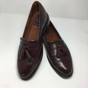 Bostonian Tassel Loafer Wing Tip, Burgundy Leather